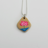 Neon Lotus flower necklace