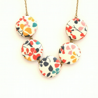 Liberty of London Five Button Necklace in Nina Taylor Brights