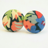 Liberty Fabric 'Thorpe' Stud Earrings