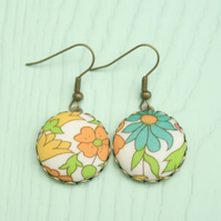 Liberty of London Poppy and Daisy Drop Earrings
