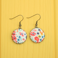 Liberty of London 'Phoebe' Red and Blue Large Drop Earrings