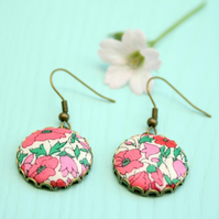 Liberty of London Pink Petal and Bud Drop Earrings