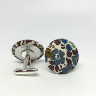 Liberty of London Cufflinks in Betsy Ann Grey