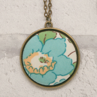 Liberty of London Betsy Aqua Fabric Pendant