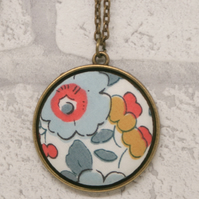 Liberty of London Betsy Grey Fabric Pendant
