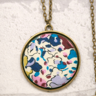 Liberty of London Claire Aude Turquoise Fabric Pendant