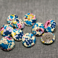 Liberty of London Claire Aude Blue Fabric Buttons