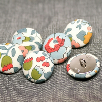Liberty of London Betsy Grey Fabric Buttons