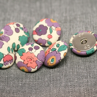 Liberty of London Betsy Purple Fabric Buttons