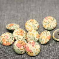 Liberty of London Claire Aude Yellow Fabric Buttons