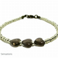Smokey Quartz Heart Beads & Seed Beaded Friendship Bracelet