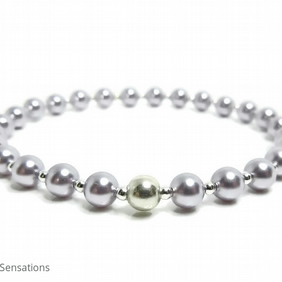 Lavender Pearls & Sterling Silver Bridesmaid's Bracelet