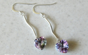 BRIDAL & PROM - Sterling Silver Earrings With Swarovski Pearls / Swarovski Crystals