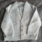 Blue Knitted Cable Baby Cardigan