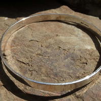 Highly polished Sterling Silver Bangle