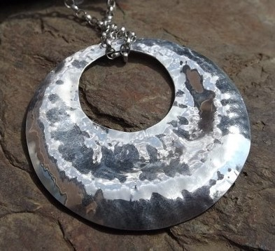Hammered Silver Pendant