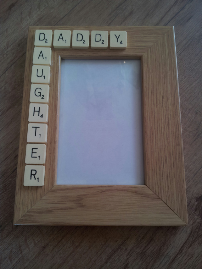 Daddy Daughter - Scrabble Photo frame - Great Father's Day Gift