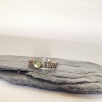 Peridot Ring - Sterling Silver and Peridot Gemstone Ring