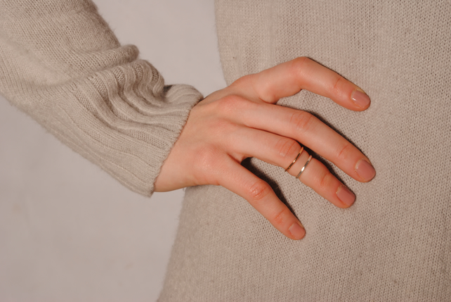 Mid Finger Ring - Silver or Gold Ring - Stacking Ring