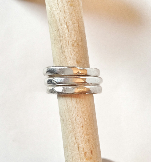 Large Silver Bands - Silver Stacking Rings - Thick Silver Ring