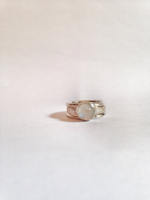 Moonstone Ring - Stacking Ring - Artisan Ring