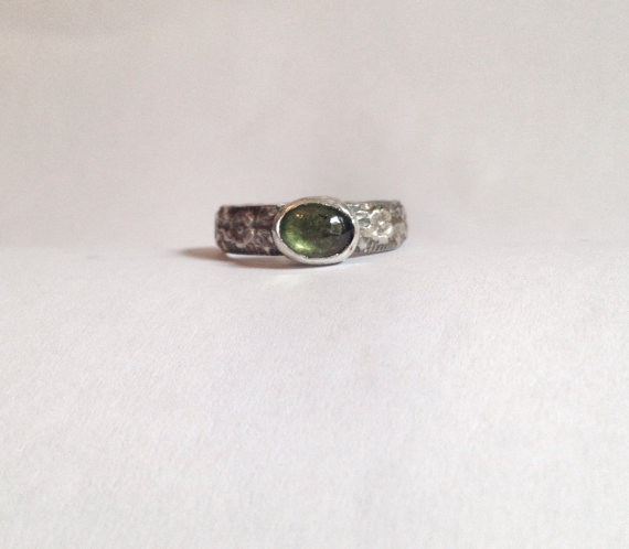 Peridot Ring - Silver And Peridot Gemstone Ring