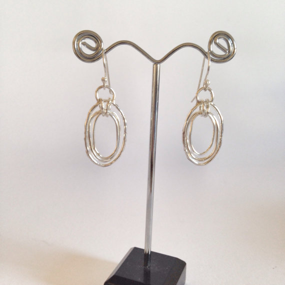 Silver Drop Earrings - Silver Earrings