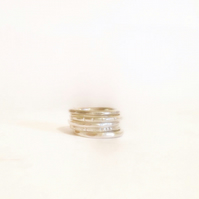 Silver Stacking Rimgs