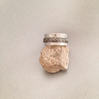 Spinner Ring - Wide Silver Ring - Meditation Ring