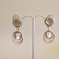 Artisan Hoop Earrings - Silver Organic Hoop Earrings