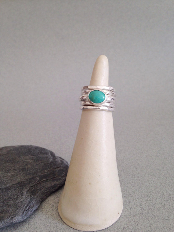 Turquoise Ring - Stackable Ring - Turquoise Stacking Ring