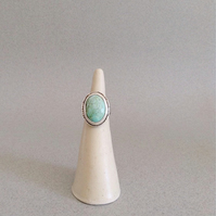 Turquoise Ring - Large Turquoise and Sterling Silver Ring - Statement Ring