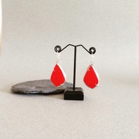 Large Red Earrings - Artisan Earrings - Statement Jewellery