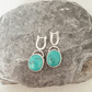 Turquoise Earrings - Silver Earrings - Basic Turquoise Drop Earrings