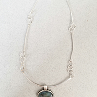 Labradorite Necklace - Pendant Necklace - Silver Necklace
