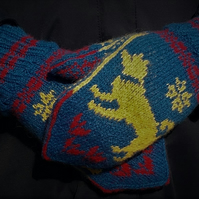 Hand knitted Nordic Mittens, The Yellow Dog