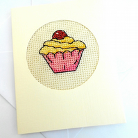 Cupcake Cross Stitch Card