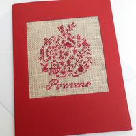 Apple For Teacher, Petit Point Card