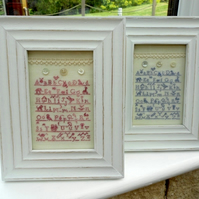 SALE A Shabby Chic Alphabet Sampler