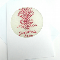 Get Well Soon Petit Point Card