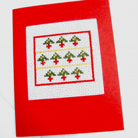 SALE Puddings, Trees and Snowmen Cross Stitch Cards