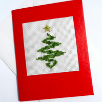 Modern Shiny Tree Cross Stitch Cards
