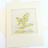 SALE Alouette..Lark Petit Point Card
