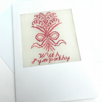 'With Sympathy' Petit Point Card