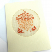 SALE A Very Merry Autumn Petit Point Card