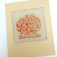 SALE A Pumpkin Petit Point Card