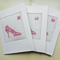 A Shoe Petit Point Card Plain or Personalised With Number