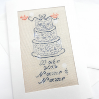 A Personalised Petit Point Wedding Card