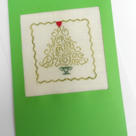 A Merry Christmas Petit Point Card