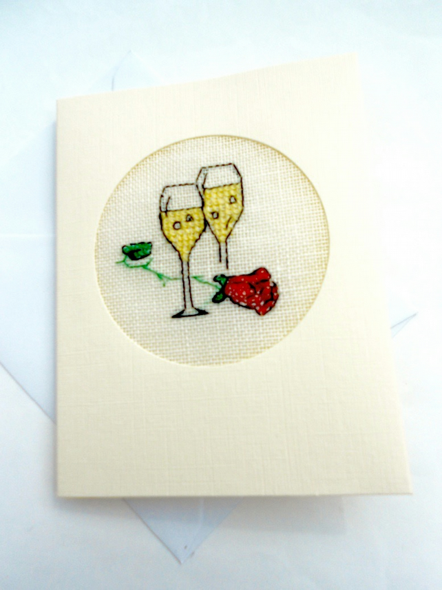 Wedding, Anniversary, Engagement Cross Stitch Card